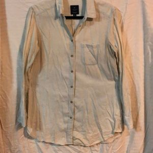 American Eagle Button Up Chambray Shirt